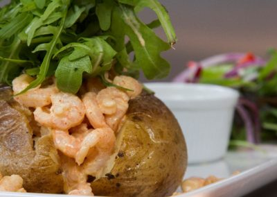 Jacket Potato with Prawns