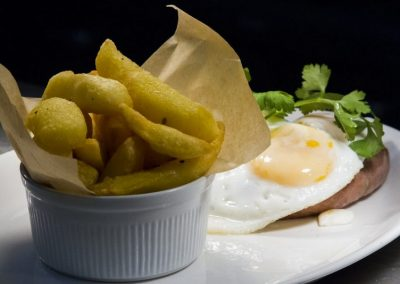 Egg, Sausage and Chips